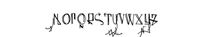 Spijker 08 Semi-condensed Regular Font UPPERCASE