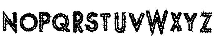 Spike Crumb Geiger Font UPPERCASE