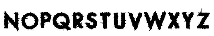 Spike Crumb Swollen Font UPPERCASE