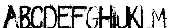 Spikes-Regular Font LOWERCASE