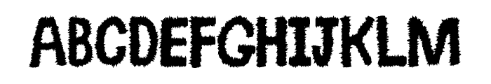 Spikey Font UPPERCASE