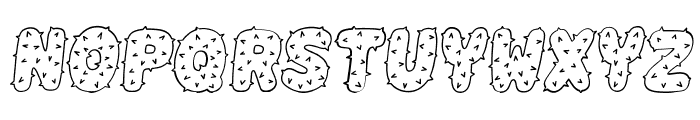 Spiky Italic Font LOWERCASE
