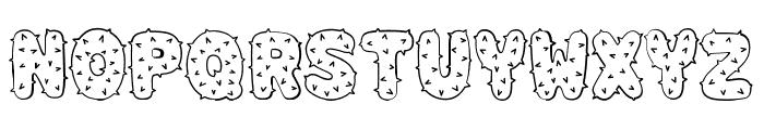 Spiky Regular Font UPPERCASE