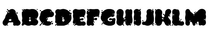 Spilt Ink Font UPPERCASE
