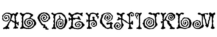 Spiral ST Font UPPERCASE