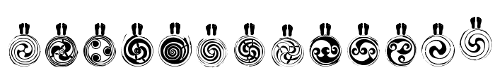 SpiralTraces Font UPPERCASE