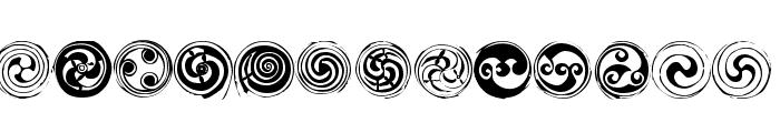 Spirals Regular Font LOWERCASE