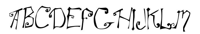 SpitCurl Font UPPERCASE