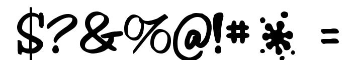 Splash Font OTHER CHARS