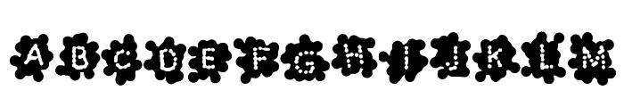 SplashBlobsnDots Font UPPERCASE