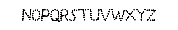 SplashBlobsnDots Font LOWERCASE