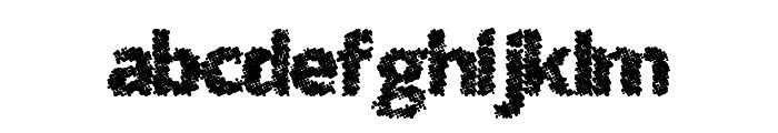 SplatMatrix Font LOWERCASE