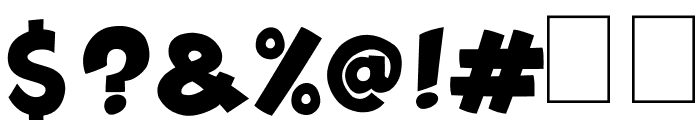 Splatch Font OTHER CHARS