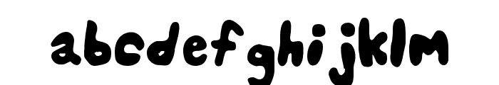Splats Unsplatted Font LOWERCASE