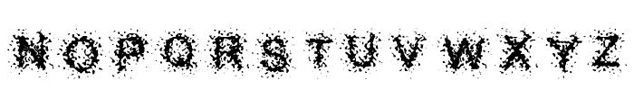 Splatter Caps Font UPPERCASE