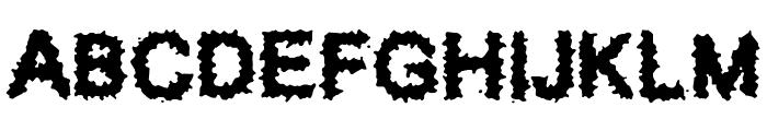 Splatz BRK Font UPPERCASE