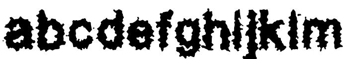 Splatz BRK Font LOWERCASE