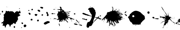 Split splat splodge Font LOWERCASE