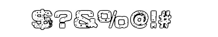 Sponge Regular Font OTHER CHARS