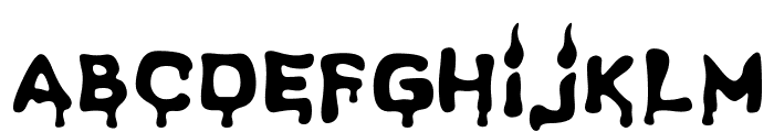 Spooky Light Font LOWERCASE