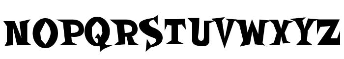 SpookyMagic Font UPPERCASE