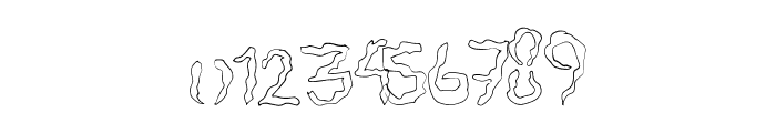 SpookyStencil Font OTHER CHARS