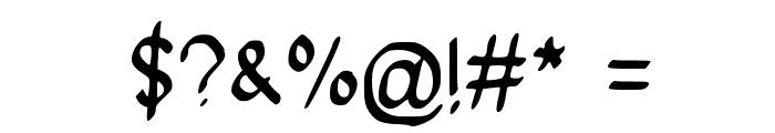 SpookyVHBold Regular Font OTHER CHARS