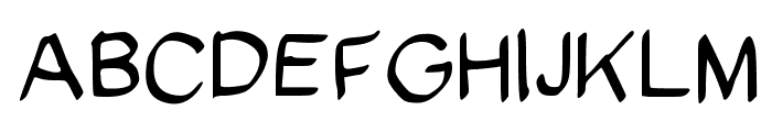 SpookyVHBold Regular Font UPPERCASE