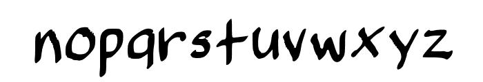 SpookyVHBold Regular Font LOWERCASE