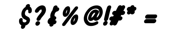 SporkBoldItalic Font OTHER CHARS