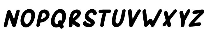 SporkBoldItalic Font UPPERCASE