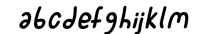 SporkItalic Font LOWERCASE