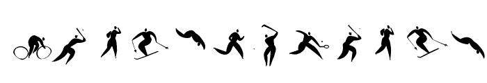 SportSatyre Medium Font LOWERCASE