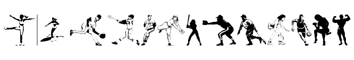 Sports 1 Font UPPERCASE