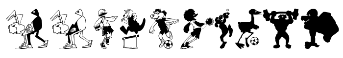 SportsAnimals Font OTHER CHARS