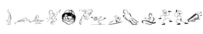 SportsCartoons Font LOWERCASE