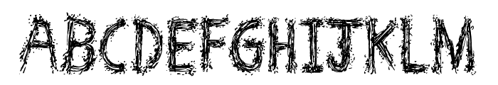 Spray Break Font LOWERCASE