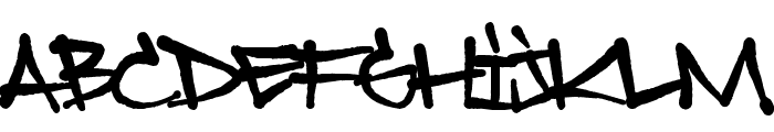Sprayerz Font UPPERCASE