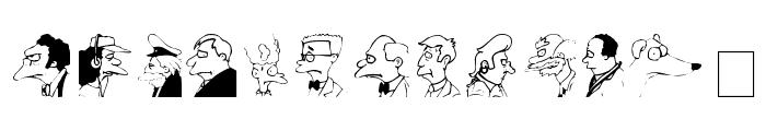 Springfield MugShots Font LOWERCASE