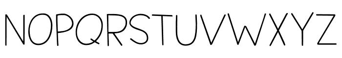 Springwood Line DEMO Regular Font UPPERCASE