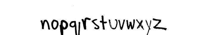 Spudly in the Sky with Daemons Font LOWERCASE