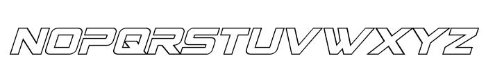 Spy Agency Outline Italic Font UPPERCASE
