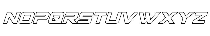 Spy Agency Outline Italic Font LOWERCASE
