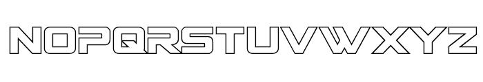 Spy Agency Outline Font UPPERCASE