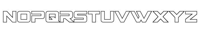 Spy Agency Outline Font LOWERCASE
