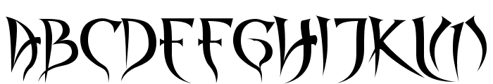 Spyced Font UPPERCASE
