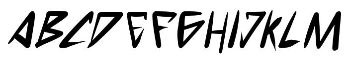 space punk Bold Italic Font UPPERCASE