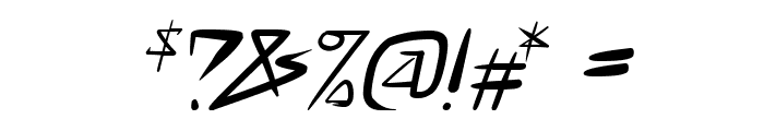space punk Italic Font OTHER CHARS
