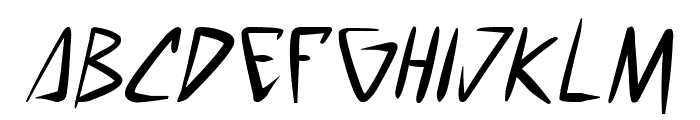 space punk Italic Font LOWERCASE