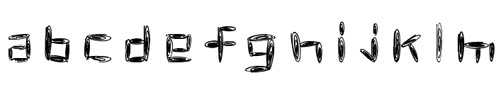 spacetime Font LOWERCASE
